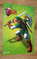 1998 Nintendo The Legend of Zelda Ocarina of Time very rare small Poster 42x30cm