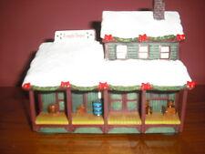 HAWTHORNE VILLAGE FREIGHT DEPOT RAILROAD TRAIN TRACKS CHRISTMAS SANTA BOXES
