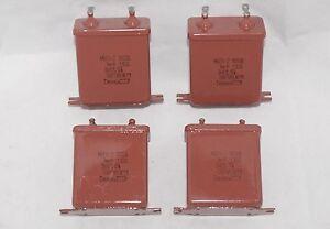 1uF 1 mFD 1µF 1000V 1kV PiO (Paper In Oil) Russian Capacitors MBGP Lot of 4 NOS