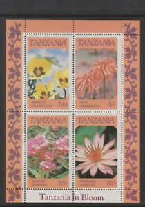 Tanzania - 1986, Flowers sheet - MNH - SG MS478