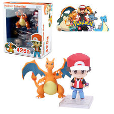Pokemon GO Trainer Red Champion Ver Nendoroid Ash Ketchum & Charizard Figure Toy