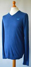 Men's Blue Hollister California Thin Knit, V Neck Jumper size M, Medium.