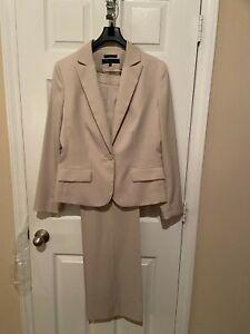 Womans Anne Klein Beige Pant  Suit - Size 12