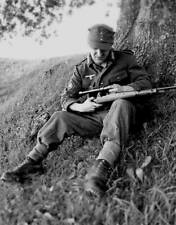 WW2 WWII Photo German Wehrmacht Sniper Mauser 98K Germany World War Two / 2203