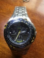 (A) Citizen Eco-Drive Skyhawk C651-T000959 TA Blue Angels Pilot AVIATION Watch