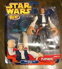 "Star Wars Playskool Jedi Force Han Solo with Jet Bike 6"" Figure"
