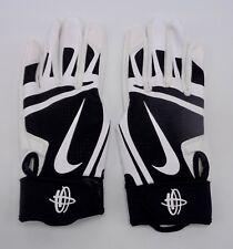 Nike Huarache Edge Youth Batting Gloves White/Black youth Large