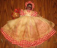 Great Antique African American Americana Yarn Doll