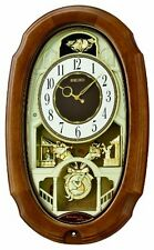 Seiko Melody in Motion Analog Wooden Wall Clock QXM479BRH
