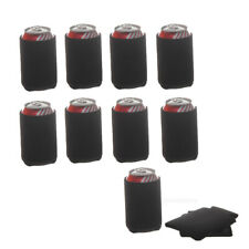 30pcs Stubby Beer Tin Can Cooler Soda Chilling Holder Sleeve Black
