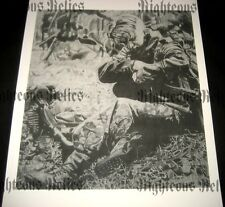 WWII MG 42 Elite German Gunner Fine Art Poster Print Drawing WW2 At Rest 1944-45