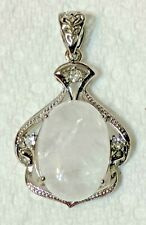 Clear Quartz Stone Pendant Energy Reiki Healing Amulet Clear Spinel Crystal