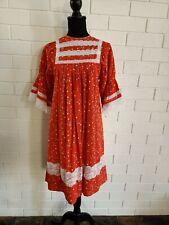 Handmade Vintage Dress Boho Prairie Floral