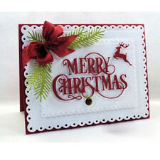 Merry Christmas Reindeer Metal Cutting Dies Scrapbooking Album Paper Cards Craft