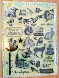 Large Acrylic Clear Stamp Set - Crafts Card Making Scrapbooking 32 stamps (lotB)