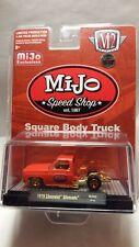 1/64 M2 1979 C-10 Chevrolet Silverado square body truck orange Chase AUTO MIJO