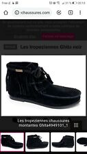 Tropeziennes Ghita Noir Montantes Mocassins Cuir Taille 38 bottines boots frange