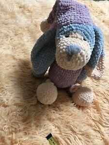 Sleepy Dog Handmade Amigurumi Dog Toy Crotchet Animal Dog Doll