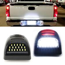 Rear License Plate LED Light w/Red DRL For Silverado GMC Sierra 1500 2500 3500
