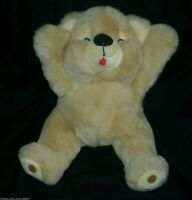 "16"" BIG VINTAGE MTY INTERNATIONAL TAN BROWN TEDDY BEAR STUFFED ANIMAL PLUSH TOY"