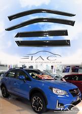 Chrome Trim Side Window Visors For Subaru XV Crosstrek 11-16