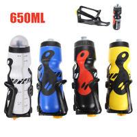 Fahrrad Trinkflasche mit Halter Set 650ml Sport Flasche und Trinkflaschenhalter