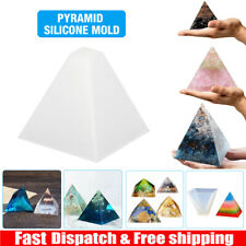Pyramid Silicone Mold Resin Jewelry Making Mould Epoxy Pendant Craft DIY Tool US