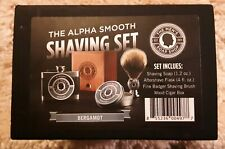 The Alpha Smooth Shaving Set - Bergamot By The Men's Soap Shop
