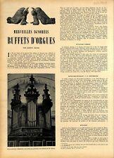 Buffets d'orgues d'Embrun du XVe siècle /Cathédrale de Pamiers ILLUSTRATION 1949