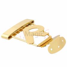 Short Trapeze Tailpiece 6 String Jazz Archtop Guitar Bridge Golden