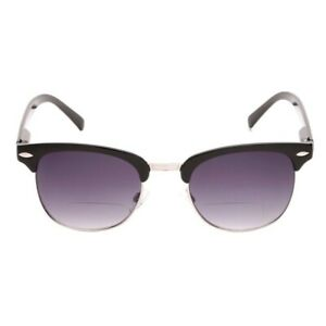 """The Executive"" Classic Semi-Rimless Bifocal Unisex Reading Sunglasses"