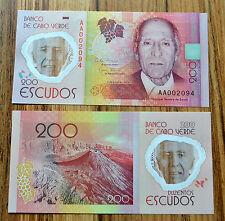 Cabo Verde , Kap Verde 200 Escudos 2014  P-71  UNC banknote  Polymer NOTE
