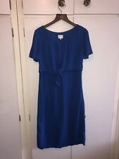 East John Lewis Size 8 Royal Blue Bow Front Shift Dress Brand New