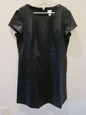 Chico's Embossed Fit and Flare Dress - Womens 3 - Black - NWT