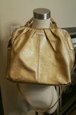 "KATE SPADE Five Points ""Camille"" Gold Leather Handbag Crossbody Purse Satchel"