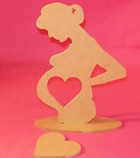 4mm Thick MDF Pregnant lady/scan frame craft blank baby Shower Gift