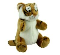 "Tiger Hand Puppet soft plush toy 10""/25cm By LELLY National Geographic NEW"