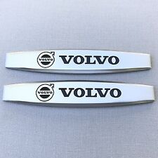 NEW (2pc) VOLVO LOGO FENDER DOOR METAL EMBLEM NAMEPLATE BADGE EM123