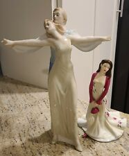 Royal Doulton Figurines Tango Dancing Couple & Loving Thoughts. Set of 2