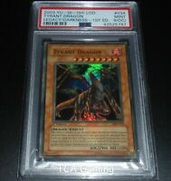 PSA 9 (OC) MINT Tyrant Dragon LOD-034 1st Edition ULTRA RARE Yugioh Card
