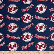 Minnesota Twins Fabric MLB  Baseball Cotton New  Red White  BTFQ Lampshade ?
