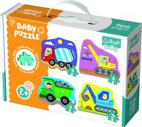 Trefl 4 In 1 Kids Baby Classic Vehicles On Construction 3-6 Piece Jigsaw Puzzles