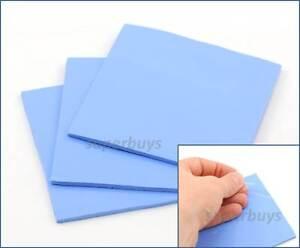 1pc Blue 100x 100x 3mm Silicone Thermal Pad Sheet PC CPU Chip Heat Sink HeatSink