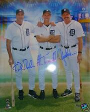 Gibson Trammell Parrish Autographed Tigers 16x20 Photo