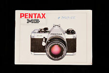 Genuine instruction manual for Pentax MG camera (English)