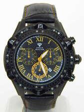 Aqua Master Black Band Chrono Diamond Mens Watch W311 2