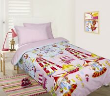 Girl's PINK FUN AT FAIR Carousel Glow In The Dark DOUBLE Quilt Doona Cover Set