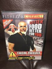 Fitness De Cuisine Better Food Better For You Fitness Chef Thom Zwawa 3 DVDs New