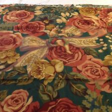 Cynthia Hart April Flowers Angels Roses Cotton Fabric 36X54 Cyrus Clark Vtg Look