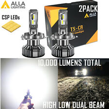 Alla Lighting H4 Headlight Bulb,Old Halogen Convert to Pure White Bright LED, 2x